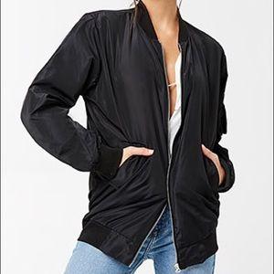Forever 21 Activewear USA Longline Bomber Jacket